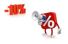 Постоянным клиента скидка 10%!